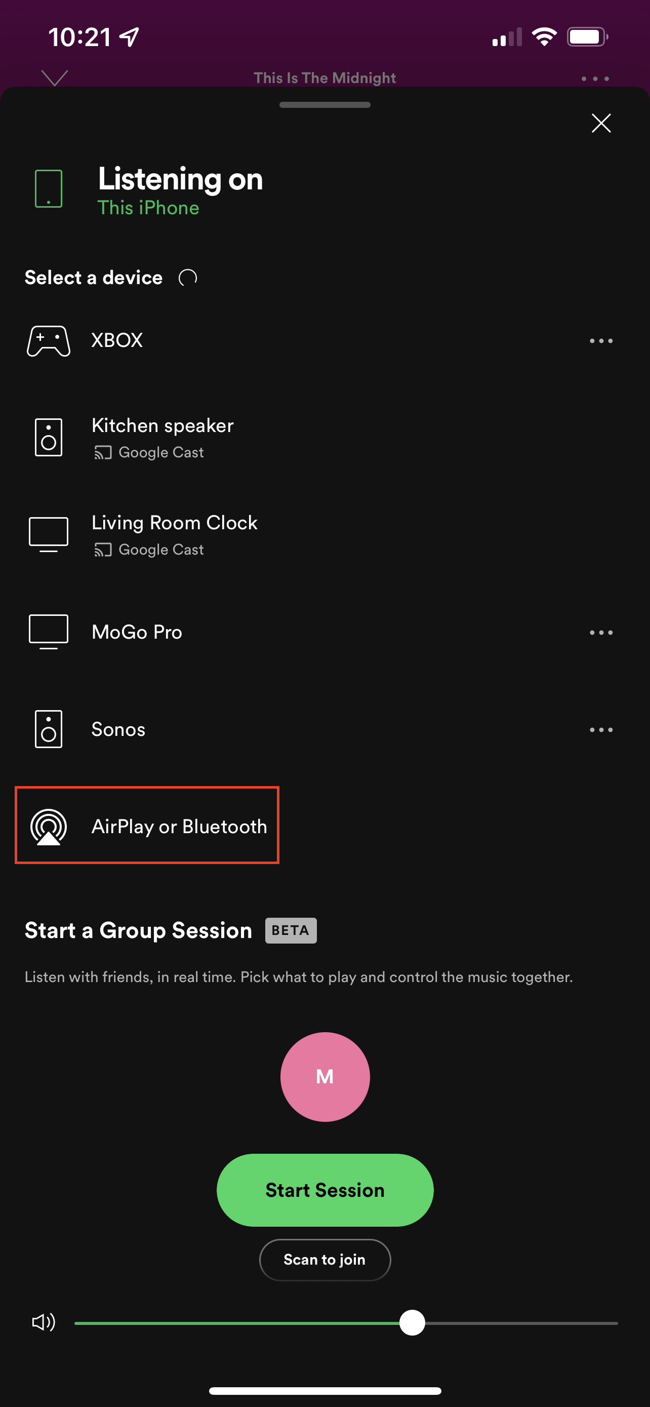 How to AirPlay from iPhone to Mac using Spotify 3