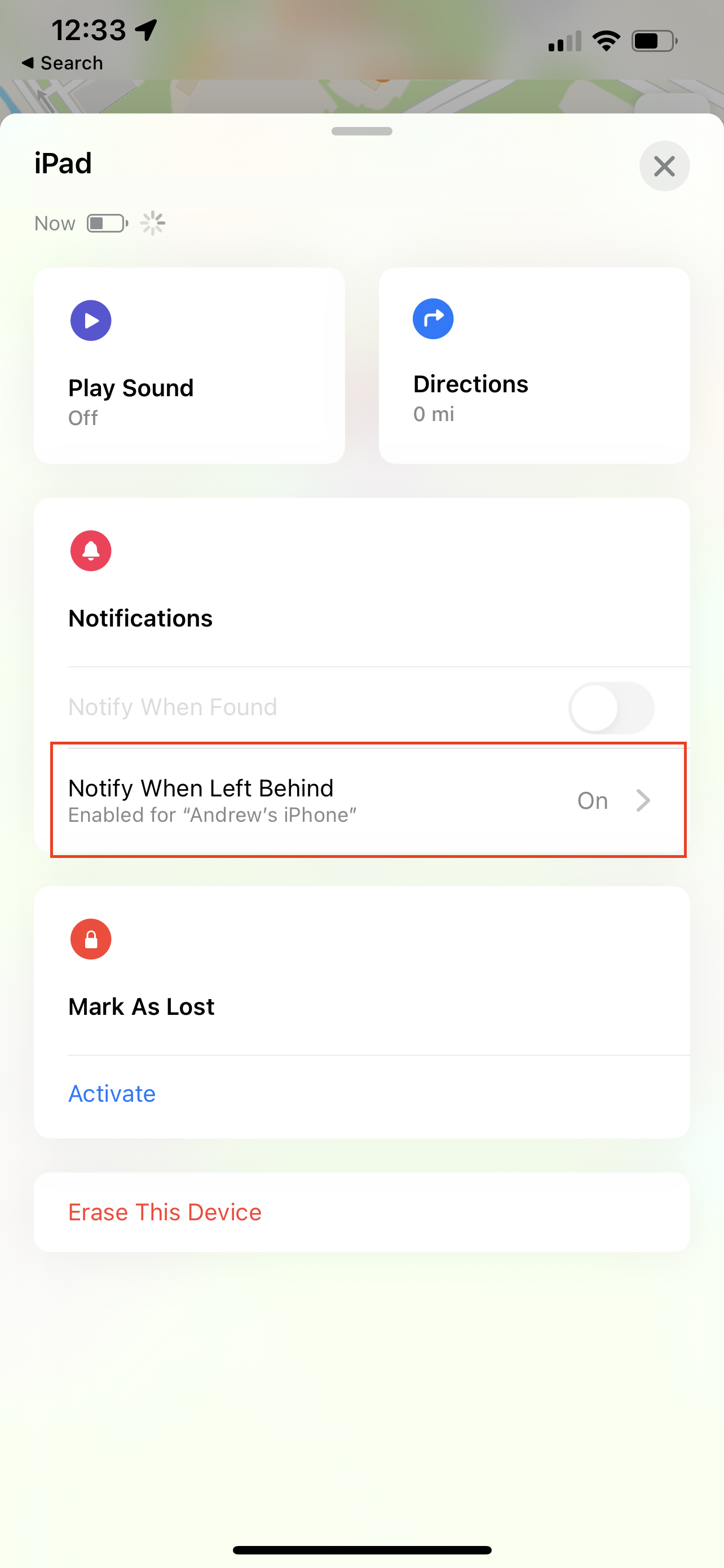 How to turn on 'Leave Behind' notifications 3