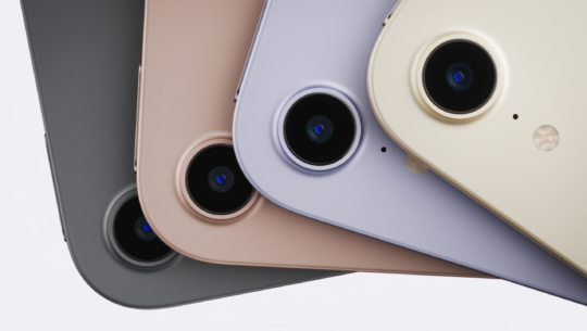 The four colors of the 2021 iPad mini: Space Gray, Pink, Purple, and Starlight.