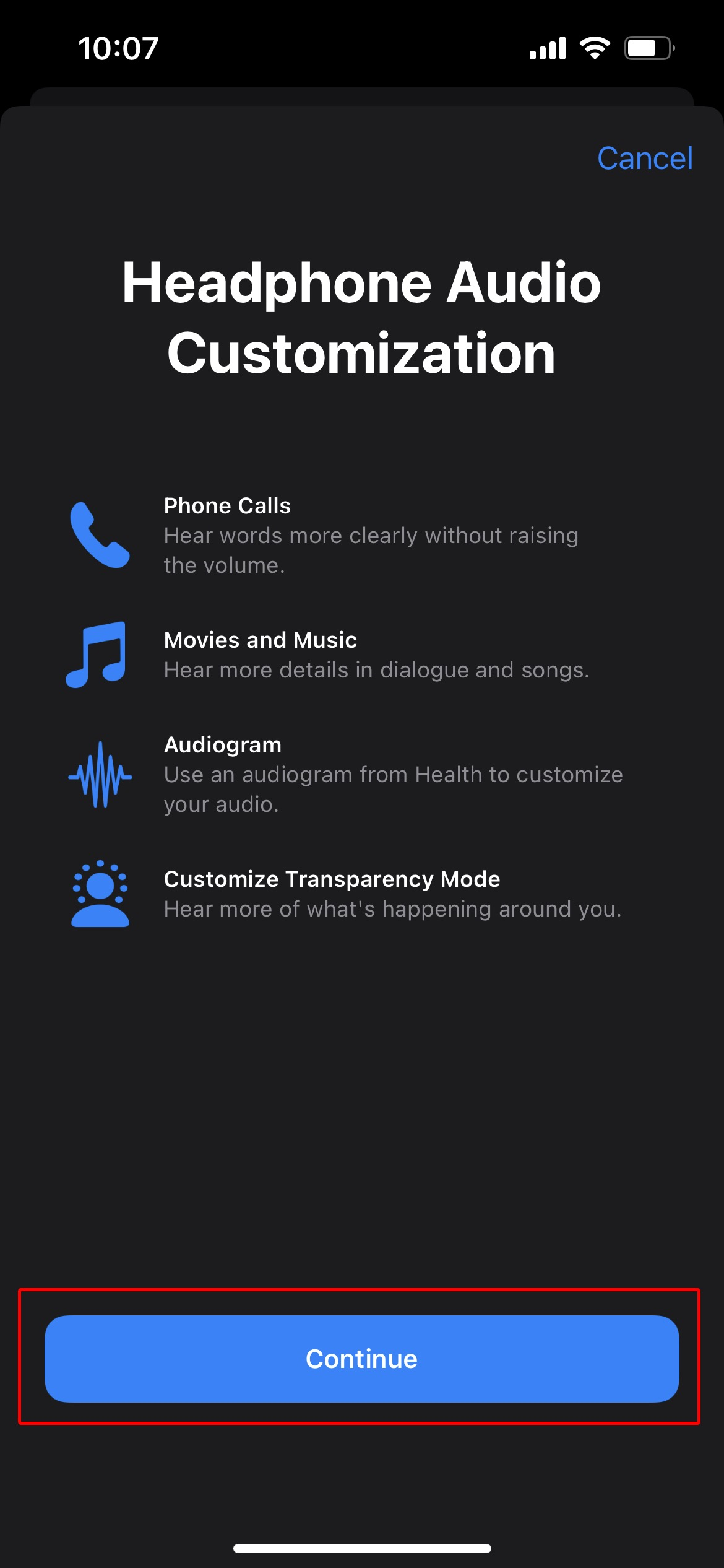 Enable Conversation Boost on AirPods Pro with iPhone 7